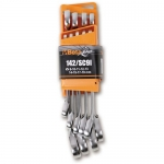 Beta Tools 001420087, 142/SC9I Set of Reversible Combination Wrenches