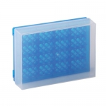 Bio Plas 0030F, 96 Well Preparation Rack with Cover, Fluorescent Blue