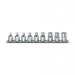 Beta Tools 009100430, 910FTX/SB9 Set of 9 Hand Sockets for Head Screws