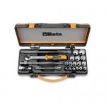 Beta Tools 009100933, 910B/C16Q Set of Bi-Hex Sockets and Accessories