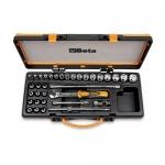 Beta Tools 009100944, 910A/C29 Set of 17 Hexagon Sockets