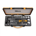 Beta Tools 009200942, 920AS/C17X Set of 17 Bi-Hex Sockets