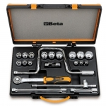 Beta Tools 009200947, 920AS/C15 Set of Bi-Hex Sockets and Accessories