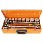 Beta Tools 009280955, 928A/C12 Set of 12 Hexagon Hand Sockets