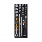 Beta Tools 024500092, M92 Assortment Set of Ratchet with Accessories