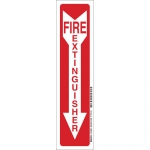 Brady 103597, Polyester Glow-In-The-Dark Fire & Exit Sign