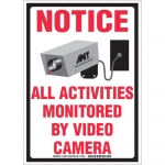 Brady 103626, Activities Monitored By Video Camera Sign