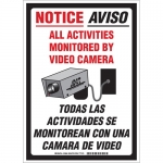 Brady 103848, NOTICE All Activities Monitored Sign