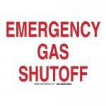 Brady 103929, Polystyrene Emergency Gas Shutoff Sign