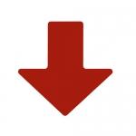 Brady 104412, ToughStripe 2″ Red Floor Arrow