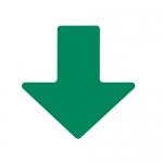 Brady 104413, ToughStripe 2″ Green Floor Arrow