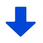 Brady 104414, ToughStripe 2″ Blue Floor Arrow