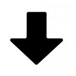 Brady 104416, ToughStripe 2″ Black Floor Arrow