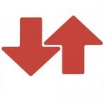 Brady 104418, ToughStripe 3″ Red Floor Arrow