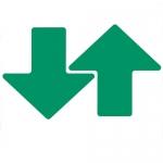 Brady 104419, ToughStripe 3″ Green Floor Arrow