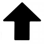 Brady 104428, ToughStripe 4″ Black Floor Arrow