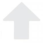Brady 104429, ToughStripe 4″ White Floor Arrow