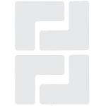 Brady 104435, Floor Corner Mark, L-Shaped Die-Cut Design