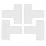 Brady 104441, Floor Corner Mark, T-Shaped Die-Cut Design