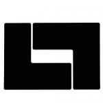 Brady 104458, Floor Corner Mark, L-Shaped Die-Cut Design