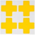 Brady 104469, Floor Corner Mark, Cross Die-Cut Design