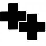Brady 104476, Floor Corner Mark, Cross Die-Cut Design