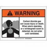 Brady 106034, Dioxide Gas Sign, Black/Gray/Orange on White