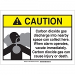 Brady 106042, Dioxide Gas Sign, Black/Gray/Yellow on White