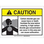 Brady 106050, Dioxide Gas Sign, Black/Gray/Yellow on White