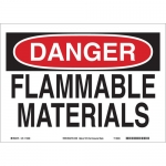 Brady 25667, 10″ x 14″ Polystyrene Danger Flammable Materials Sign