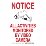 Brady 123524, Activities Monitored By Video Camera Sign