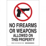 Brady 123539, Firearms Or Weapons Allowed On This… Sign