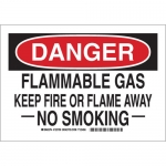 Brady 123711, Flammable Gas Keep Fire Or Flame… Sign