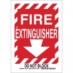 Brady 123755, 10″ x 7″ Aluminum Fire Extinguisher Do Not Block Sign