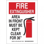 Brady 123767, Extinguisher Area In Front Must Be… Sign
