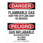 Brady 124125, Gas Keep Fire Or Flame Away… Sign