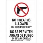 Brady 124127, No Firearms No Firearms Allowed On… Sign
