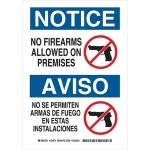 Brady 124974, No Firearms Allowed On Premises Sign