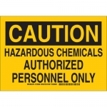 Brady 126009, Chemicals Authorized Personnel Only Sign