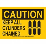 Brady 126015, Caution Keep All Cylinders Chained Sign