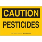 Brady 126039, 10″ x 14″ Aluminum Caution Pesticides Sign