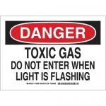 Brady 126100, Gas Do Not Enter When Light Is Flashing Sign