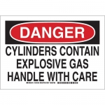 Brady 126190, Contain Explosive Gas Handle w/Care Sign