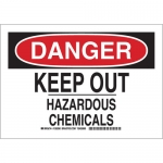 Brady 126291, Danger Keep Out Hazardous Chemicals Sign
