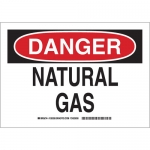 Brady 126328, 10″ x 14″ Polystyrene Danger Natural Gas Sign
