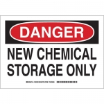 Brady 126333, 10″ x 14″ Aluminum Danger New Chemical Storage Only Sign