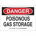 Brady 126363, 10″ x 14″ Aluminum Danger Poisonous Gas Storage Sign