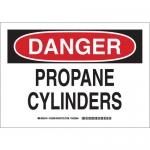 Brady 126381, 10″ x 14″ Aluminum Danger Propane Cylinders Sign