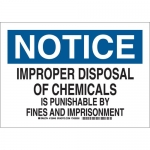 Brady 126447, Improper Disposal Of Chemicals… Sign