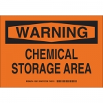 Brady 126513, 10″ x 14″ Aluminum Warning Chemical Storage Area Sign